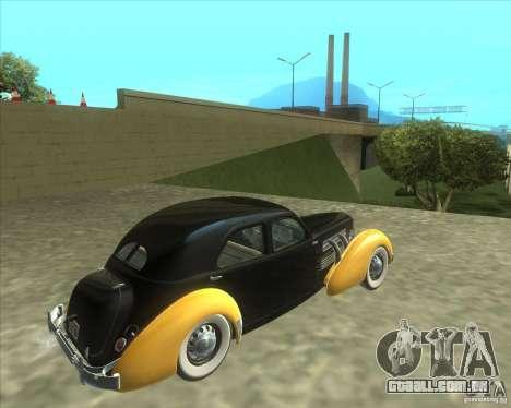 1937 Cord 812 Charged Beverly Sedan para GTA San Andreas esquerda vista