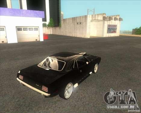 Plymouth Barracuda para GTA San Andreas traseira esquerda vista