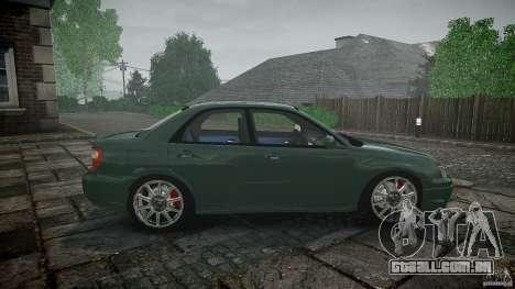 Subaru Impreza v2 para GTA 4 vista superior
