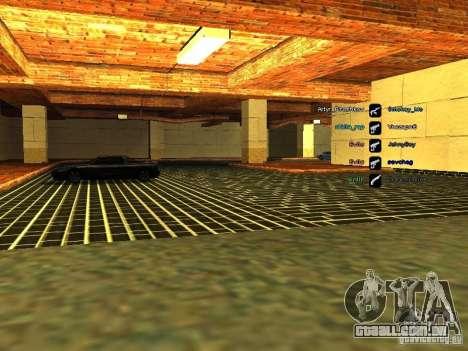 Nova garagem para a polícia de São Francisco para GTA San Andreas quinto tela