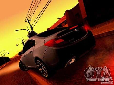 Opel Insignia para vista lateral GTA San Andreas