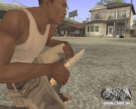 Faca HD para GTA San Andreas segunda tela