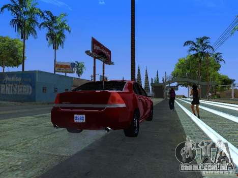 Chevrolet Impala Unmarked para GTA San Andreas vista interior
