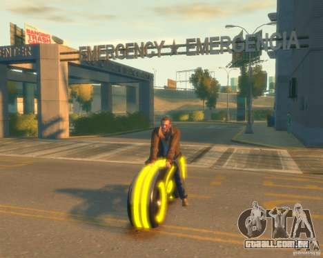 Motocicleta do trono (amarelo neon) para GTA 4
