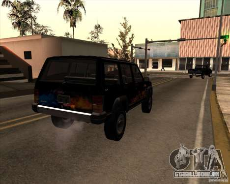 Jeep Cherokee para vista lateral GTA San Andreas