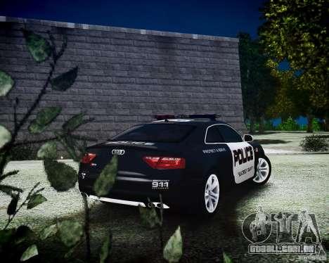 Audi S5 Police para GTA 4 esquerda vista