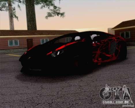 Lamborghini Aventador LP700-4 2011 para GTA San Andreas interior