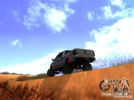 Ford F-150 Sargento Federal Edition para GTA San Andreas vista direita