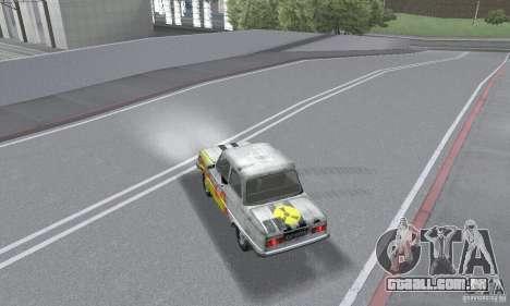 ZAZ 968M esfarrapado para GTA San Andreas vista traseira