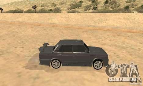 Caçador de noite 2105 VAZ para GTA San Andreas traseira esquerda vista