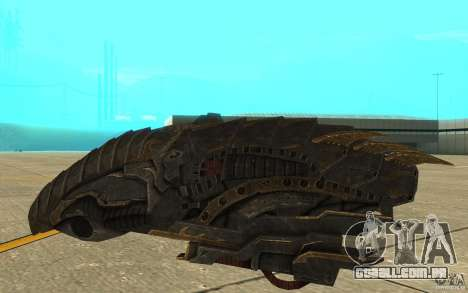Nave predador do jogo Aliens vs Predator 3 para GTA San Andreas traseira esquerda vista