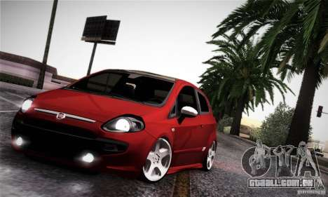 Fiat Punto Evo 2010 Edit para GTA San Andreas vista interior