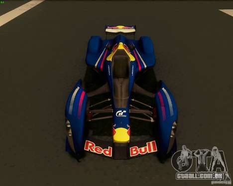 X2010 Red Bull para GTA San Andreas vista direita