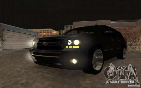 Chevrolet Suburban 2010 para GTA San Andreas vista interior