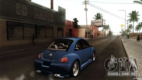 Volkswagen Beetle RSi Tuned para GTA San Andreas traseira esquerda vista