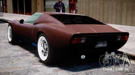 Lamborghini Miura P400 1966 para GTA 4 vista inferior