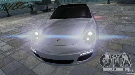 Porsche Targa 4S 2009 para GTA 4 vista de volta