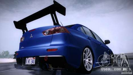 Mitsubishi Lancer Evolution X Tunable para GTA San Andreas esquerda vista