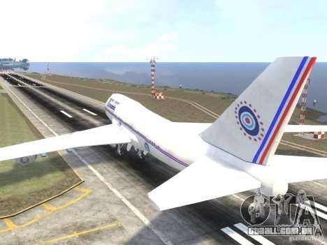 Oceanic Airlines para GTA 4 traseira esquerda vista