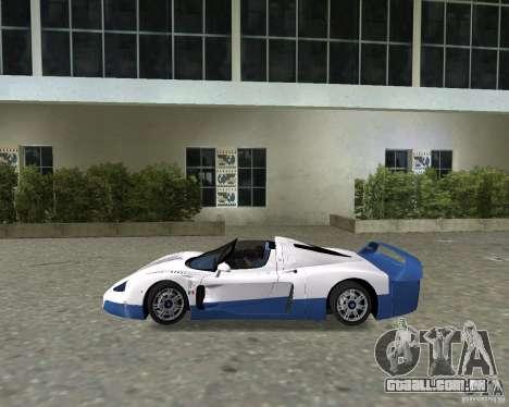 Maserati MC12 para GTA Vice City vista direita