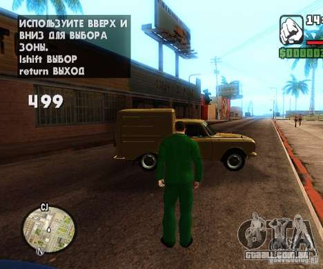 Сar carros de spawn-spawn para GTA San Andreas segunda tela