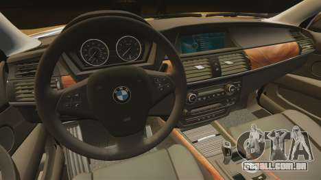 BMW X5M para GTA 4 vista interior