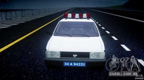 Tofas Sahin Turkish Police v1.0 para GTA 4 vista lateral
