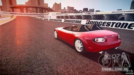 Mazda Miata MX5 Superlight 2009 para GTA 4 traseira esquerda vista