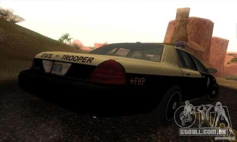 Ford Crown Victoria Florida Police para GTA San Andreas esquerda vista