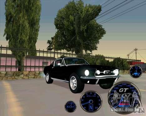 Ford Mustang Fastback para GTA San Andreas traseira esquerda vista