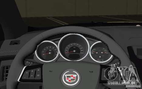Cadillac CTS-V Coupe para GTA Vice City vista superior