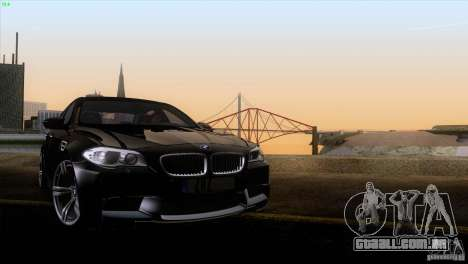 BMW M5 2012 para GTA San Andreas vista superior