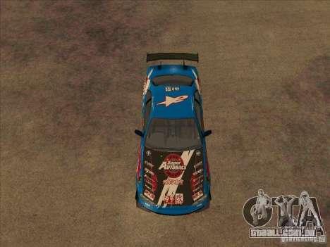 Nissan Skyline GT-R R34 Super Autobacs para GTA San Andreas vista traseira