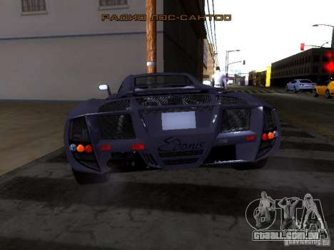 B Engineering Edonis para GTA San Andreas vista traseira