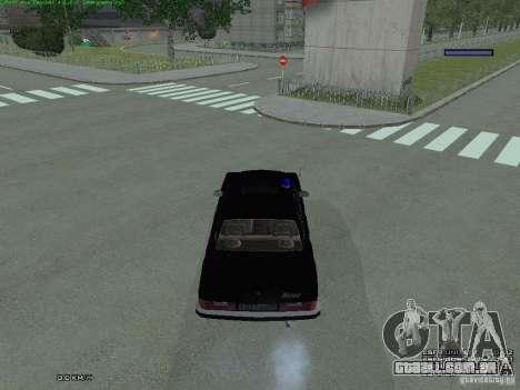 FEDERAL de Volga para GTA San Andreas vista traseira