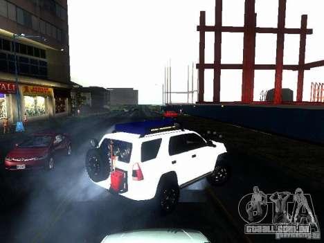 Toyota 4Runner 4X4 para GTA San Andreas traseira esquerda vista
