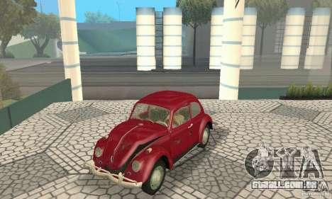 Volkswagen Beetle 1963 para as rodas de GTA San Andreas