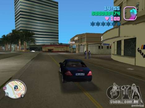 Mercedes-Benz E350 para GTA Vice City vista direita