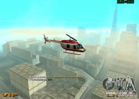 New Maverick para GTA San Andreas traseira esquerda vista