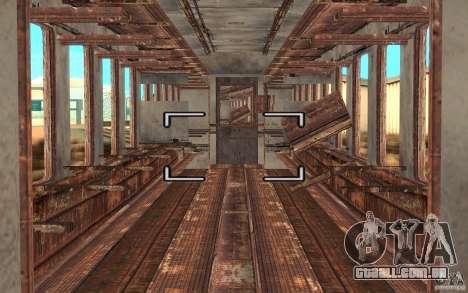 Um trem do jogo STALKER para GTA San Andreas vista direita