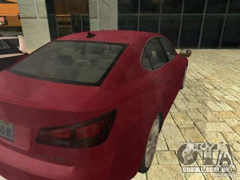 Lexus IS 350 para GTA San Andreas vista direita
