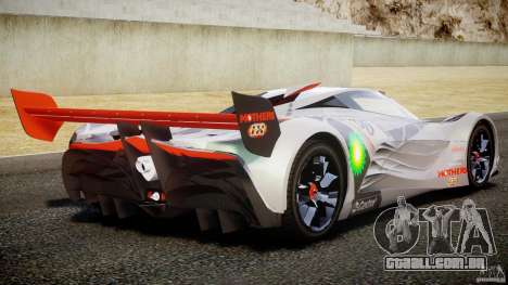 Mazda Furai Concept 2008 para GTA 4 vista inferior
