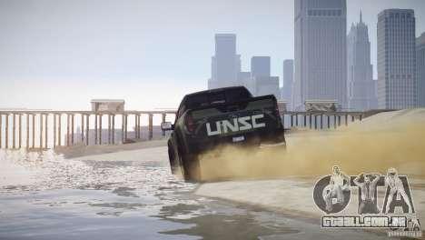 Ford F150 SVT Raptor 2011 UNSC para GTA 4 traseira esquerda vista