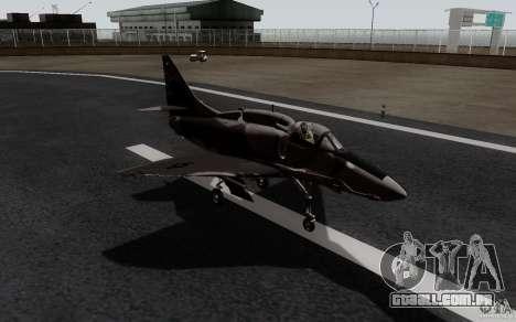 McDonnell Douglas A-4AR Fightinghawk para GTA San Andreas traseira esquerda vista