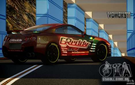 Nissan GT-R Black Edition GReddy para GTA 4 esquerda vista