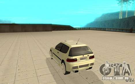 Honda Civic 1992 para GTA San Andreas traseira esquerda vista