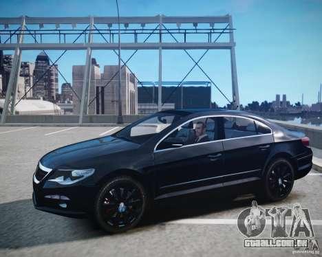 Volkswagen Passat CC para GTA 4 vista de volta