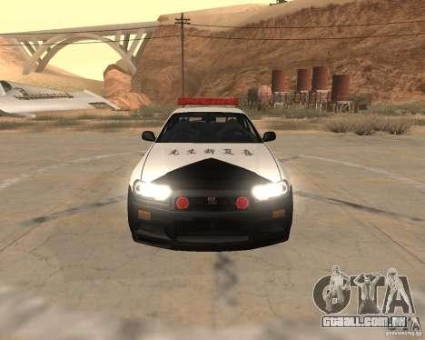 Nissan Skyline Japan Police para GTA San Andreas