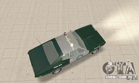 Plymouth Duster 340 Police para GTA San Andreas traseira esquerda vista