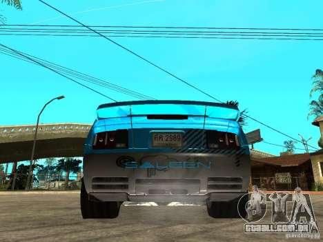 Ford Mustang Drag King para GTA San Andreas esquerda vista